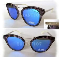 New GUESS GF0304 Marble/Blue Mirror Womens Sunglasses- tiny defect