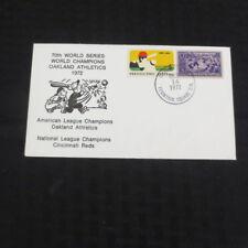 1972 World Series Oakland Athletics/Cincinnati Reds Envelope Stamped