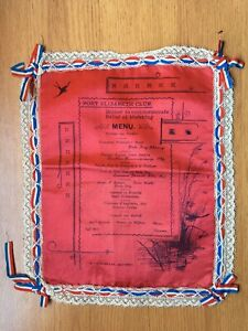 1900 Port Elizabeth Club Menu - dinner to support relief of Mafeking