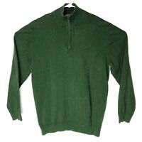 Old Navy Men's Mock-Neck 1/4-Zip Sweater Green Pullover XL EUC
