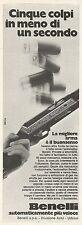 W5177 Fucile da caccia BENELLI - Pubblicità 1972 - Advertising