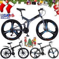 "26"" Road Bike 21 Speed 700C Disc Brake Road Full Suspension Bicycle Men Women"