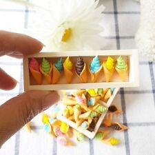 5PCs Loose Mix Ice Cream Cone Dollhouse Miniatures Food Bakery Supply Deco Cute