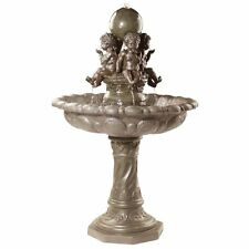KY400421 -The Four Splashing Putti Sculptural Italian-Inspired Fountain w/Pump!