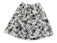 Sportsgirl Womens Midi Skirt Size 16 With Pockets Black And White