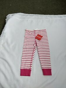 Hanna Andersson 100 4T New NWT Leggings Pants Opposite Stripe WHITE/PURPLE Loose