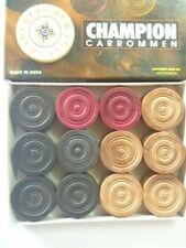 Carrom Coin Set of 24 Coins Sheesham Wood Champion Carrom Coins Free Striker