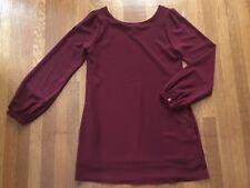 Lulus Long Sleeve Burgundy/Maroon Shift Dress