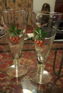 Vintage Cherry B Glasses X2