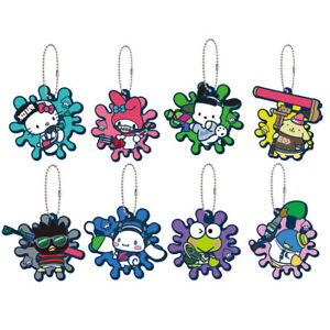 Splatoon 2 Sanrio Hello Kitty My Melody PomPomPurin 1 Random Charm Keychain
