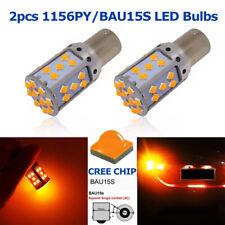 2x CREE 1156 BAU15S PY21W Canbus No Error Amber Orange LED Turn Signal Light 12V
