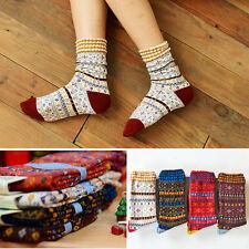4 Pairs Lot 4 Colors Women Girl Retro Cotton Tube Ankle Piles Warm Calf Socks