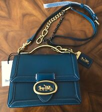 Sold Out NWT Coach 1941 Peacock Leather Riley 18 Top Handle Crossbody Bag 74615