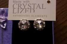 Swarovski Heart Crystal Costume Earrings