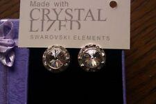 Swarovski Heart Stud Costume Earrings