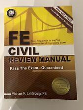 FE COVIL REVIEW MANUAL Michael R. Lindeburg, PE