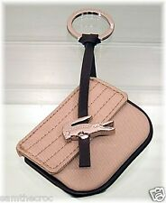 New Authentic LACOSTE KEYRING KEY FOB Bag Charm Croco Lite L22.2 Sand Beige