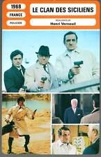 LE CLAN DES SICILIENS - Gabin,Delon,Ventura(Fiche Cinéma)1968  The Sicilian Clan