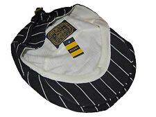 Rugby Ralph Lauren Blue Pinstripe Polo Linen Estate 1920s Driving Cap Hat M / L