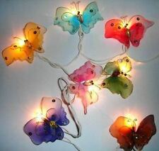 Battery Powered Butterfly Fairy Light String 3 M Long 20 LED's & Butterflies.