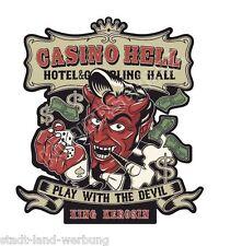 King queroseno casino Hell XL 15cm pegatina/rockabilly/Tuning/retro/las vegas/v8