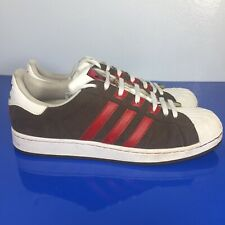 Adidas Superstar 2 Mens Brown Suede With Red Stripes Sports Trainers Size 12