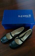 DIANA FERRARI Supersoft Black DAKOTA Leather Flat Casual/Work Shoes BNIB Sz 8 C