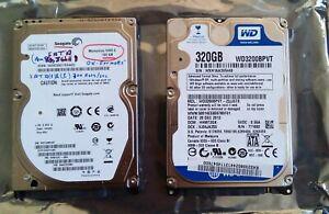 """Lot 2 Disques Dur Portable 2.5""""  SATA - WD 320Gb - Seagate 160 Gb"""