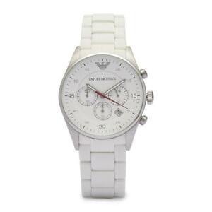 Emporio Armani AR5867 White Sportivo Silicone Chronograph Genuine Watch