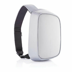 XD Design Bobby Anti Theft Crossbody Sling Bag with USB Charging Port, Grey