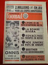 FRANCE FOOTBALL du 11/02/75 n°1506 JUNIORS 75 ONNIS MARSEILLE RENNES PARC