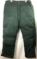 Alyeska Arctic Wear Men's Down Snow Pants Size L Green Insulated Pockets