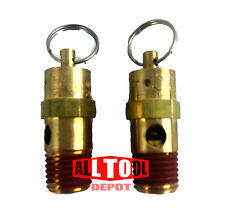 "All Tool Depot ST Series Brass ASME Safety Valve 1/4"" NPT 120 PSI x 2 Pieces"