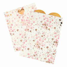 Rose Gold Bridal Shower Treat Bags - Party Supplies - 12 Pieces