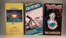 Lot of 3 Vhs Surf Tapes Rusty Presents Tear Devils 3 and Ocean Action Vcr