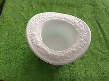 Milk glass hat shaped dish