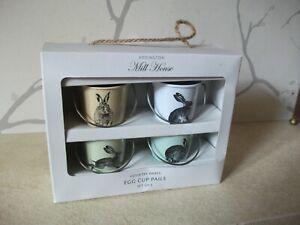 Egg Cup Pails Set of 4 HARES by Eddington Mill House
