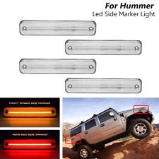 4x Clear Led Front & Rear Side Marker Lights Turn Signal For Hummer H2 2003-2009