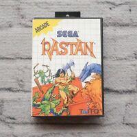 Rastan Sega Master System Video Game 1988 w Manual Poster and Case RPG Rare CIB