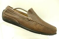 Ecco Brown Leather Casual Slip On Driving Loafers Shoes Men's 43 / 9 - 9.5