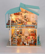 Huge DIY Handcraft Miniature Dolls House - Wooden Dollhouse & Lights - Fast Post
