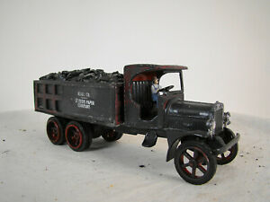 On30 or O scale Coal Delivery Truck - custom weathered and built - lot 6