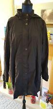 Ladies Anne Harvey Black Rainproof Coat Jacket UK Size 18 Great Condition