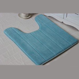 Bath Mat Non Slip Rubber Pedestal Mat Toilet Closestool Bathroom Rug Floor Carpe