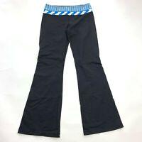 Lululemon Reversible Groove Pant Wide Leg Black Luon Leggings Gym Yoga Women 8