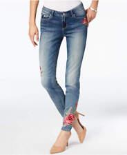 Vintage America Boho Raised Embroidered Skinny Ankle Jeans  Size 6 NWT