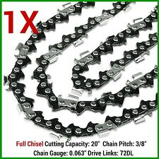 "1X CHAINSAW CHAIN FULL CHISEL 3/8 063 72DL FOR 066 MS660 034 038 STIHL 20"" BAR"