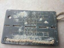 Armée belge plaque prisonnier stalag