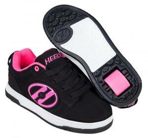 Heelys Voyager Shoes - Black/Pink + Free DVD