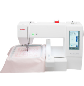 Janome Memory Craft 400E MC400E Embroidery Machine with Bonus Bundle